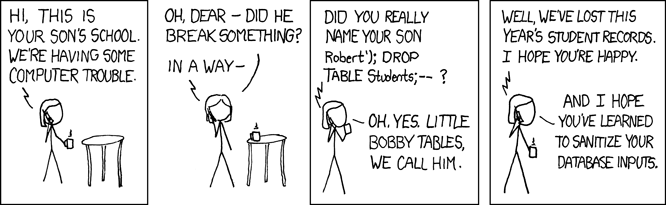 "xkcd-Comic ""Bobby Tables"""